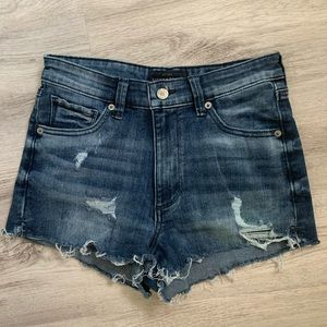 Lucky Brand distressed jean shorts hi rise 4/27